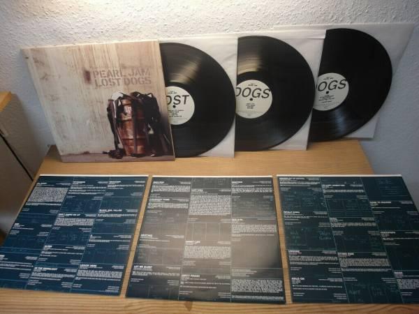 PEARL JAM original tripple gatefold Vinyl 3LP Lost Dogs  2003  Mint Ultra Rar