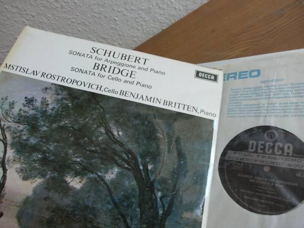 Schubert  Arpeggione Sonata   Rostropovich   Britten   Decca SXL 6426 ED1 LP