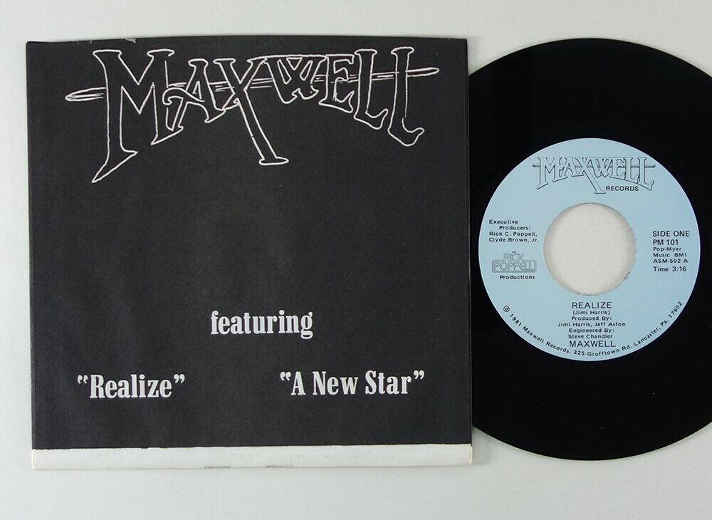 Maxwell  Realize  Rare Modern Soul Disco 45 Maxwell HEAR