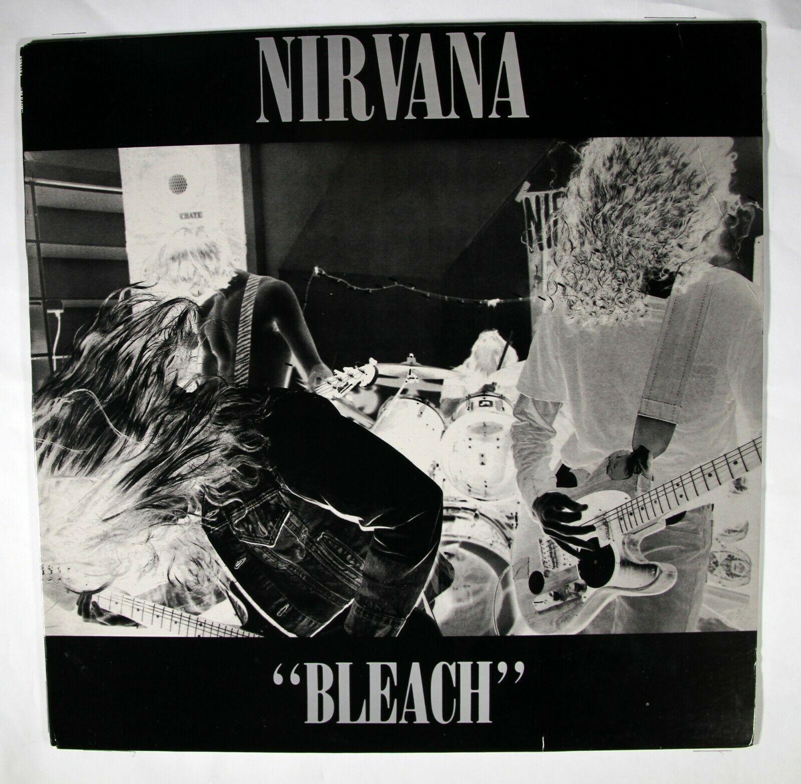 WHITE VINYL Nirvana Kurdt Kobain SUB POP STEREO M M   Bleach  LP