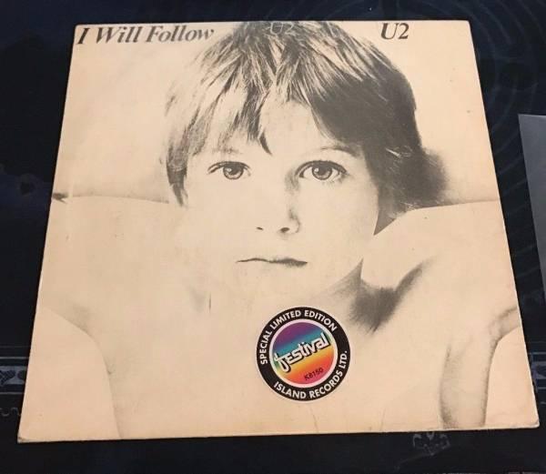 U2 I WILL FOLLOW 1981 PROMO NEW ZEALAND 7 SINGLE WITH VERY RARE STICKER