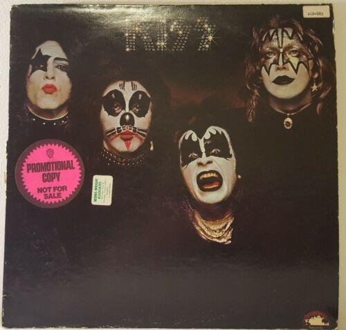 Kiss   Self Titled Debut LP 1974 White Label PROMO No Kissin Time NB9001 VG  VG