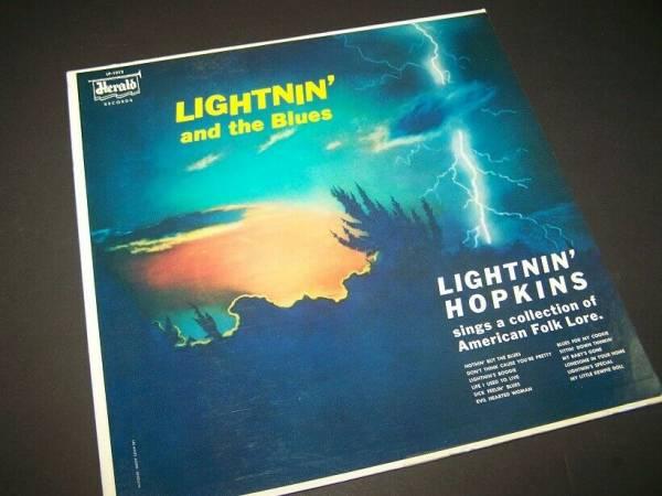 LIGHTNIN HOPKINS Rare LP on HERALD 1012   LIGHTNIN and the BLUES  1960 VG  MINT