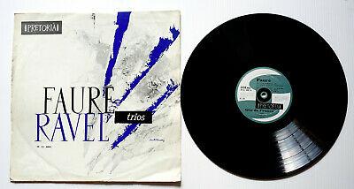 RARE LP Pr  toria Mono RAVEL FAURE Trio de France JOY GAUTIER ANDRE LEVY VG