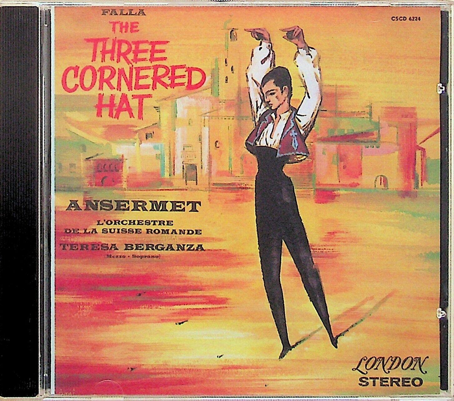 FALLA The Three Cornered Hat ANSERMET Berganza RARE 24K Audiophile GOLD DISC CD