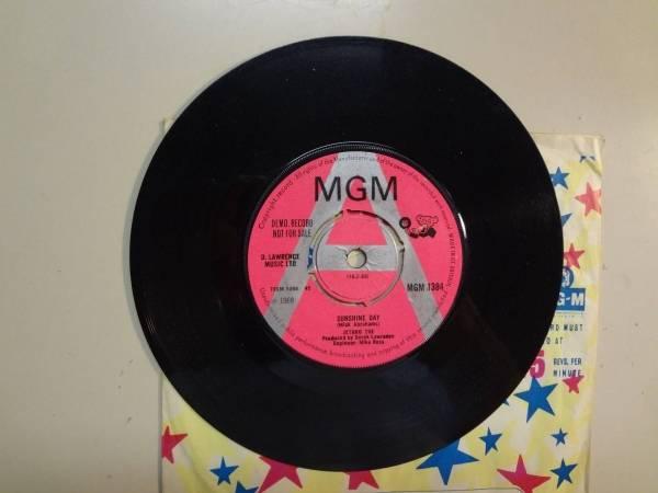 JETHRO TOE   Jethro Tull Sunshine Day Aeroplane U K  7  1968 MGM 1384 Orig  Demo