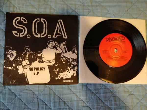 SOA State of Alert   No Policy ep black vinyl Minor Threat Ramones Misfits Nofx