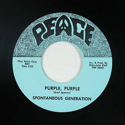 Garage Psych Fuzz 45   Spontaneous Generation   Purple  Purple   Peace NM rare