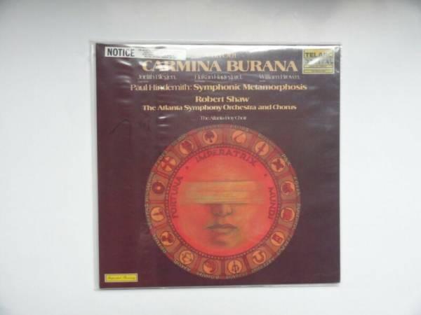 CARL ORFF Carmina Burana RARE SEALED TELARC AUDIOPHILE 2 LP SET DG 10056 57 TAS