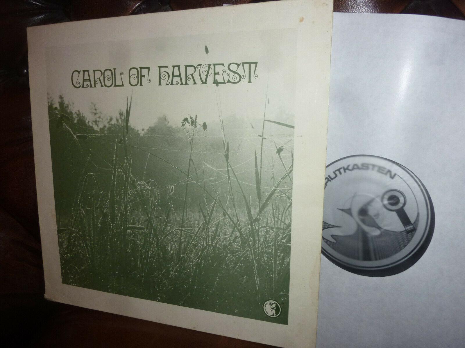 Carol Of Harvest  Krautrock Psychedlic Folk  German Brutkasten 85 0004 LP 1978